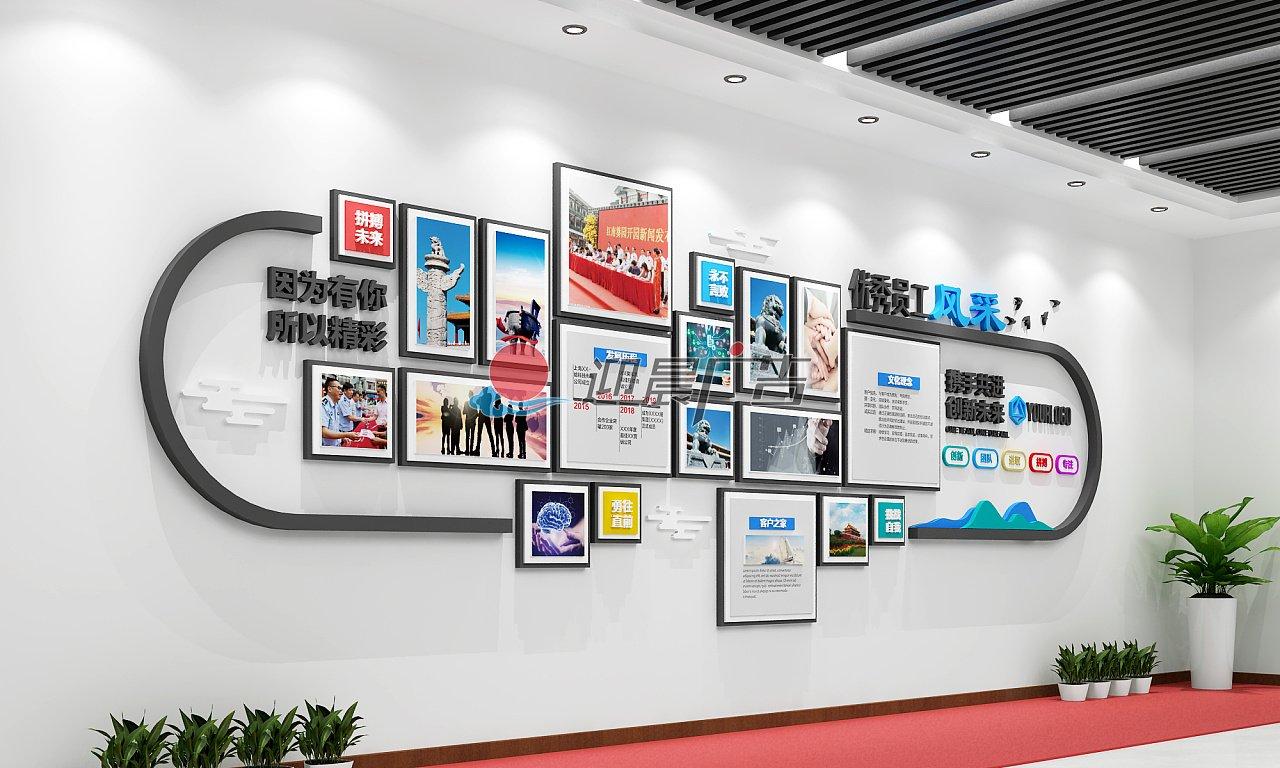 员工风采文化墙设计制作