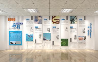 高薪集团企业发展历程文化墙荣誉墙