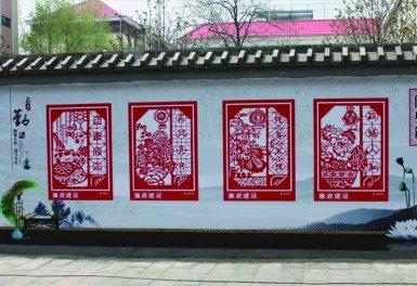 社区文明宣传文化墙